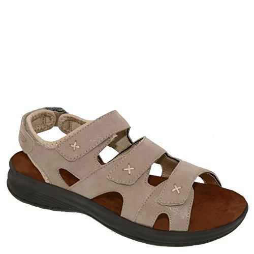 Drew Shoe Bayou Donna Terapeutico Diabetico Extra Profondità Sandalo Scarpa In Pelle Nessuno Taupe