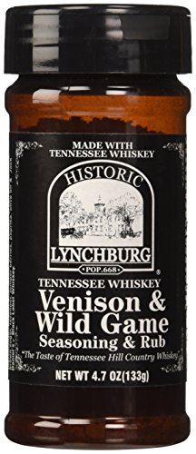 Historic Lynchburg Tennessee Whiskey Venison & Wild Game Seaoning & Rub 4.7 Oz. -