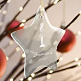 Personalized Beveled Glass Ornament - Star Shaped - Soldier
