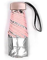 cicisame 1 pieza mini paraguas ultraligero paraguas de plástico de plata de titanio protección solar y protección solar ultravioleta sombrilla