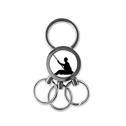 DIYthinker Shaolin Stick China - Llavero con diseño de ...