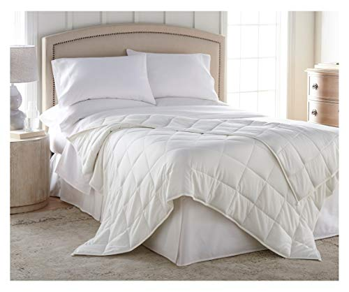 Harmonia Blanket 20 lbs :: Cotton Shell, Glass Bead Fill, 60' x 80', White + Duvet Cover, Weighted Blanket Adult 20 lbs