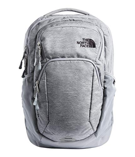 The North Face Pivoter Backpack, Mid Grey Dark Heather/TNF Black, One Size