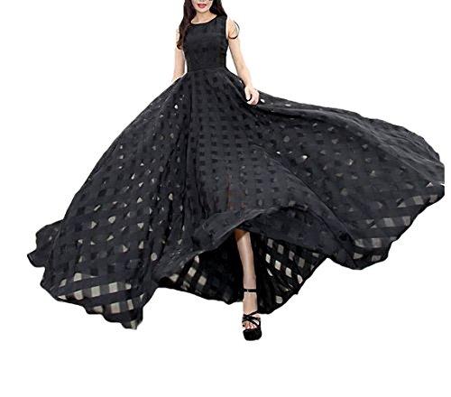 playa maxi de de negro vestidos fiesta larga largos para Vestido mujer Afibi esbelto SwxpRR5F