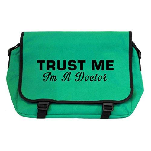 Trust Me I m A Doctor Messenger Bag–Kelly Green