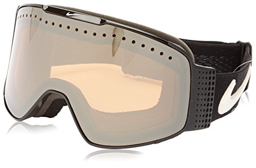 Nike Fade Goggles, Black/Black Frame, Ionized + Yellow Red Ion Lens (Snowboard Goggles Ionized)