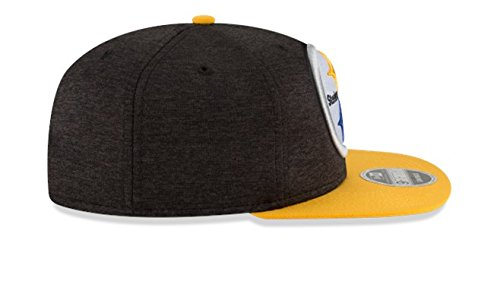 timeless design e93e2 fae16 New Era NFL Pittsburgh Steelers Heather Huge Snap 9Fifty Original Fit Cap, One  Size,