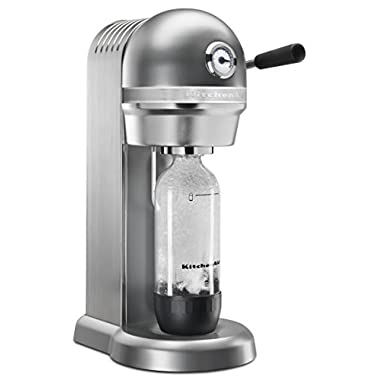 KitchenAid KSS3121CU Sparkling Beverage Maker powered by SodaStream - Contour Silver, Contour Silver