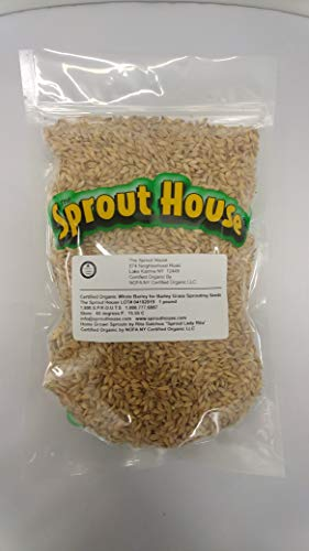 - The Sprout House Certified Organic Non-gmo Whole Barley for Barley Grass 1 Pound