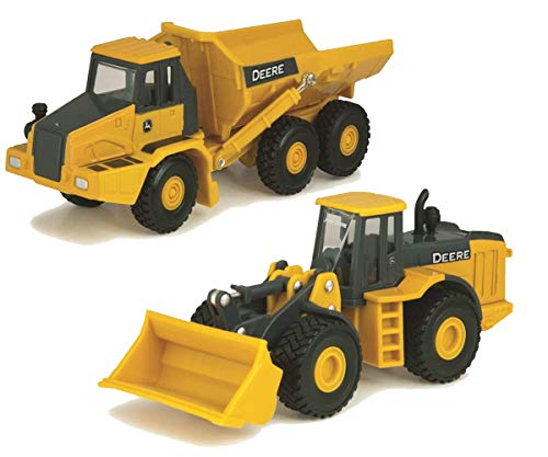 John Deere Collect N Play Articulated Dump Truck and Wheel Loader 1:64 Playset