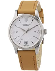 Victorinox Swiss Army Alliance Silver Dial Beige Leather Ladies Watch 241541