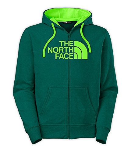 The North Face Half Dome Full Zip Hoodie Mens Depth Green Heather/Power Green ()