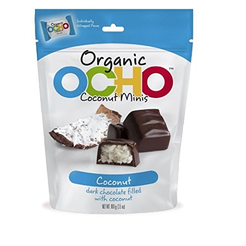 (OCHO Candy The Organic Bar Coconut Minis Pouch, 3.52)
