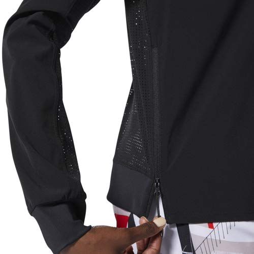 Small Black Reebok Training Supply Perforated Long-Sleeve Shirt
