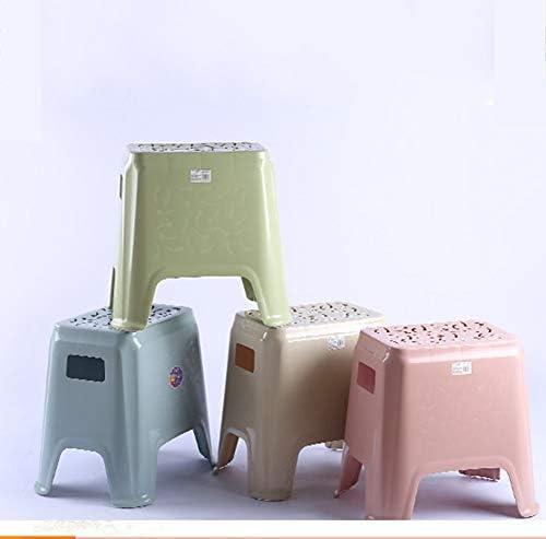 Taburete pequeño Simple protección Ambiental Antideslizante Taburete de plástico Creativo para Adultos Engrosamiento Transpirable baño Resistente Silla Cuadrada Hueca (Color : Green, Size : Medium): Amazon.es: Hogar