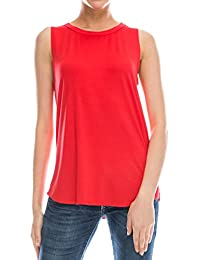 Flowy Loose Fit Rayon Knit Tank Tops: Regular and Plus Size Workout Cool Relaxed