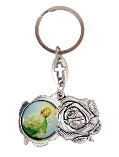 Saint St Jude and Our Lady of Guadalupe Key Chain Devotio...