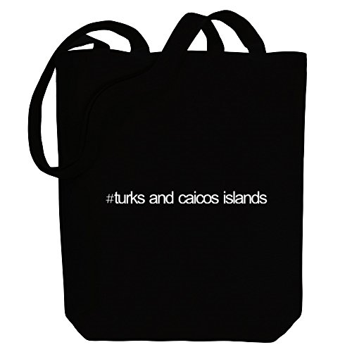 Countries Caicos Bag Islands Hashtag And Canvas Idakoos Tote Turks C8XtqX