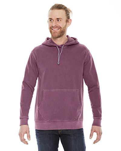 Authentic Pigment Adult French Terry Hoodie, Nautical Red, -