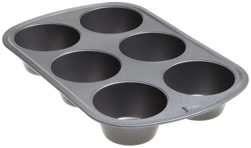 (Good Cook 04033 Non-Stick Texas Muffin Pan, Steel, 3-1/2 in Dia x 16-1/2 in L x 10 in W x 8.7 in H)