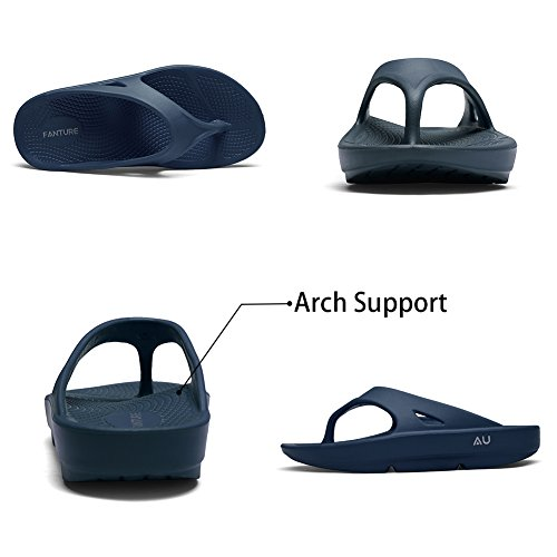 f658bc26186942 Fanture Men   Women s Ultra Soft Flip Flops Thong Foot Pain Relief Arch  Support Recovery Slipper