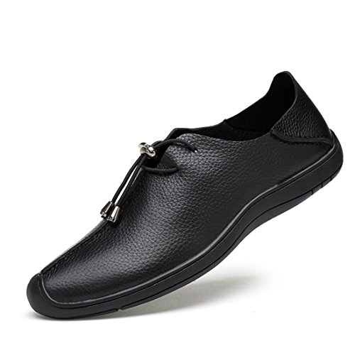Lace Shoes Lightweight up Comfortable Black Fashion Walking Men Minishion 5cRZ1TqT