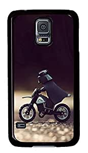 S5 Case, Galaxy S5 Case, Samsung Galaxy S5 Case - Hard PC Protective Darth Vader Motorcycle Star Wars Lego Creativity Case Black Cover Heavy Duty Protection Shock-Absorption / Impact Resistant Slim Case for Galaxy S5 / Galaxy SV / Galaxy S V / Galaxy i9600