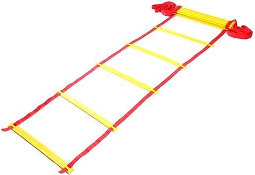 Cuerda Velocidad escalera de agilidad - Equipo de entrenamiento de ejercicios for aumentar la velocidad, coordinación, trabajo de pies - fútbol, fútbol, baloncesto (Size : 4m): Amazon.es: Bricolaje y herramientas