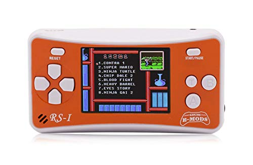E-MODS GAMING 8-Bit Retro 2.5'' LCD 162x Video Games Portable Handheld Console (Orange) by E-MODS GAMING