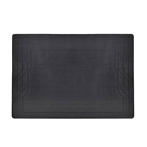 MotorTrend Utility Cargo Floor Mats for Car - Trimmable to Fit, Foldable, Cargo & Trunk Protection (Black)