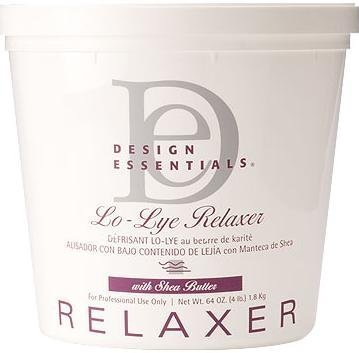 Sodium Hydroxide Hair Relaxer - Design Essentials Lo-Lye Relaxer with Shea Butter 4 lbs