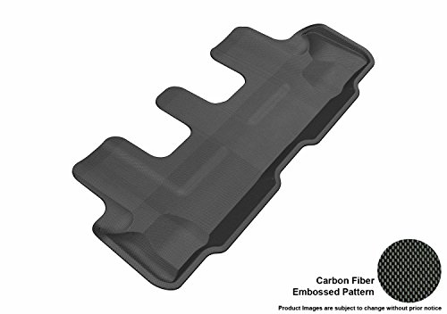 3D MAXpider Third Row Custom Fit All-Weather Floor Mat for Select Lexus GX460 Models - Kagu Rubber (Black)