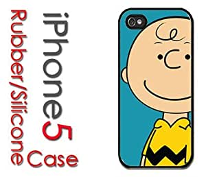 iPhone 5 Rubber Silicone Case - Charlie Brown Cartoon Character Peanuts