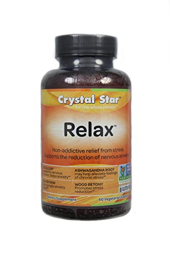 Crystal Star Herbal Vitamins (Crystal Star Relax, 60 Vegetarian Capsules)