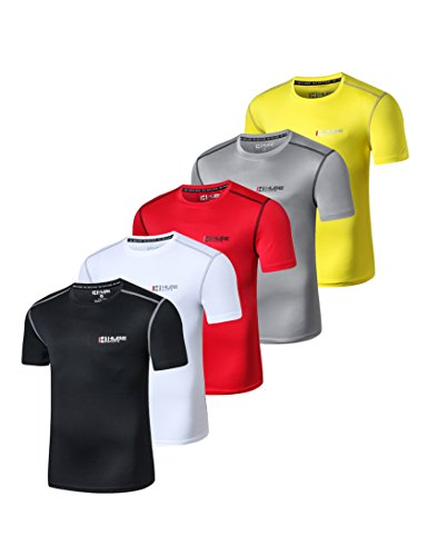 HUGE SPORTS Tech Quick Dry Exercise Fitness T-Shirt