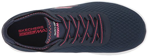 Skechers Mujeres Go Walk Lite-15350 Wide Sneaker Azul Marino / Rosa