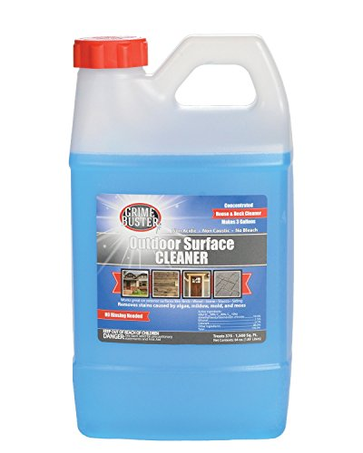 Concentrated Outdoor Surface Cleaner, 64oz, Removes Stains Caused by Algae, Mold, Mildew and Moss