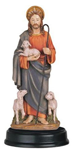 StealStreet SS-G-205.12, Jesus Good Shepherd Holy Religious Figurine Statue Decor