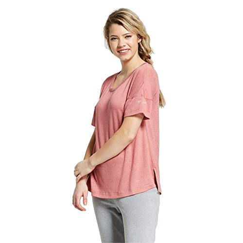 Xhilaration Pink Pajamas - Xhilaration Get Real Embroidered Sleeve V-Neck Short-Sleeve Sleep Shirt Rose Pink S