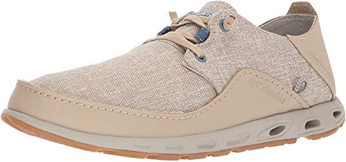 Columbia PFG Men's Bahama Vent LOCO Relaxed II PFG Boat Shoe, Ancient Fossil, Steel, 10 Regular US