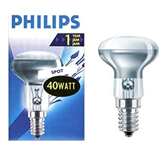 pack of 5 philips ses e14 40w r50 reflector spot light bulbs lighting. Black Bedroom Furniture Sets. Home Design Ideas