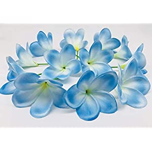 Bunch of 12 PU Real Touch Lifelike Artificial Plumeria Frangipani Flower Bouquets Wedding Home Party Decoration 72