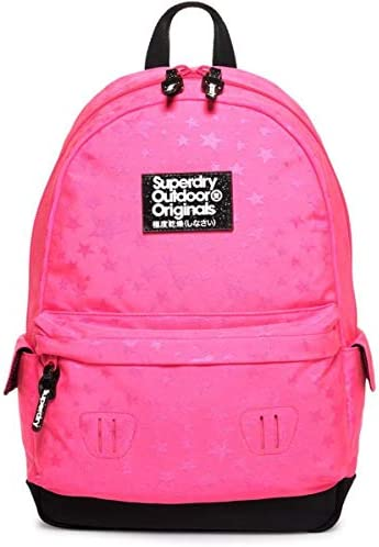 Superdry Womens Jersey Stripe Montana Backpack Pink Multi *SAME DAY DISPATCH*