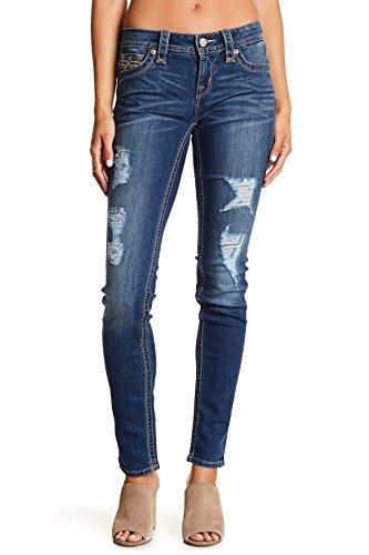 Rock Revival Womens Jessica Ripped Skinny Jeans Denim