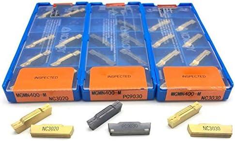 Txrh Drehbank 10pcs MGMN400 MGMN400-M 4.0mm Carbid Nutmesser Drehschneide Drehmeissel Dreh (Insert Width(mm) : MGMN400 M DM9030)
