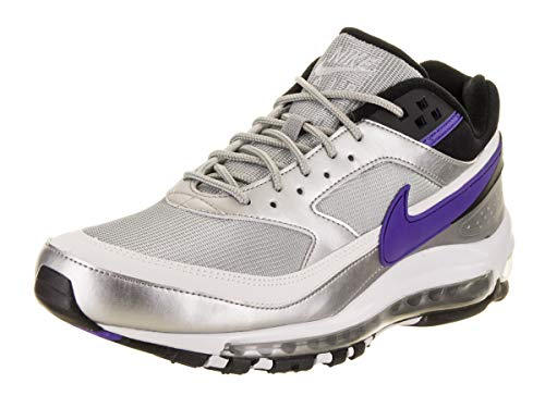 Nike Men's Air Max 97/BW Metallic Silver/Persian Violet Running Shoe 7 Men US (Nike Air Max Classic Bw)