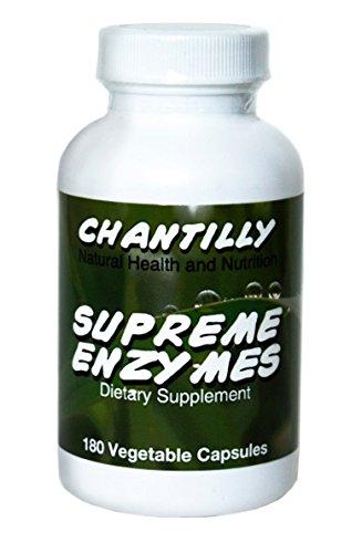 Enzymes suprême - Vegan enzymes digestives sans gluten - 180 Capsules, non-OGM, pas de charges, pas de liants