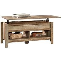 Sauder Dakota Pass Built-In Storage Coffee Table (Craftsman Oak)