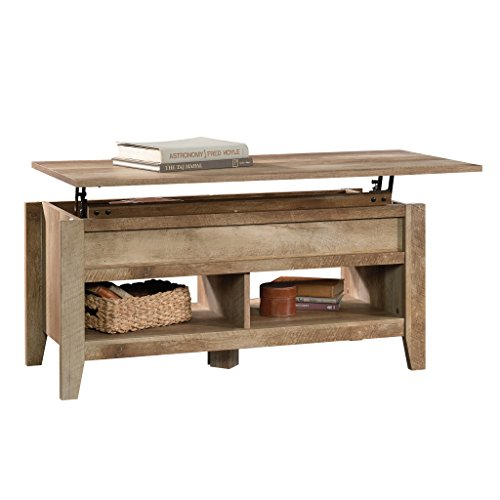 Sauder 420011 Dakota Pass Lift Top Coffee Table, L: 43.15 x W: 19.45 x H: 19.02, Craftsman Oak finish