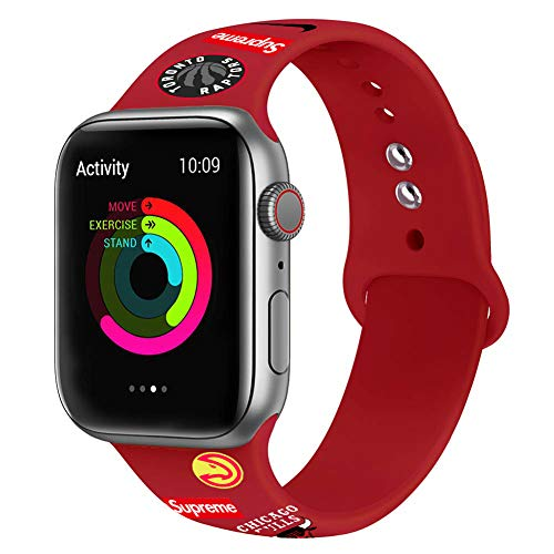 - DAZHUANG Smartwatch Bands Replacement Soft Silicone Wristbands Bracelet Bands for A Pp Le Watch for i Watch Series 4 and 3 2 1 All Models 38mm 40mm or 42mm 44mm (Red, 42mm 44mm)